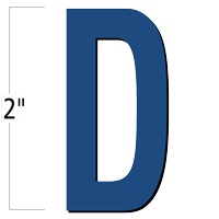 2 inch Die-Cut Magnetic Letter - D, Blue