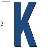2 inch Die-Cut Magnetic Letter - K, Blue