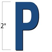 2 inch Die-Cut Magnetic Letter - P, Blue