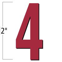 2 inch Die-Cut Magnetic Number - 4, Red