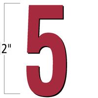 2 inch Die-Cut Magnetic Number - 5, Red