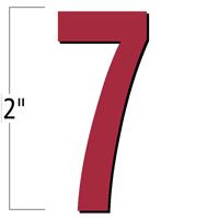 2 inch Die-Cut Magnetic Number - 7, Red
