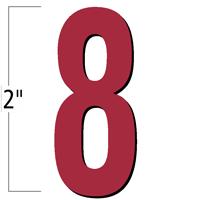 2 inch Die-Cut Magnetic Number - 8, Red