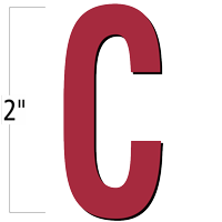 2 inch Die-Cut Magnetic Letter - C, Red