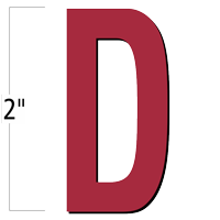 2 inch Die-Cut Magnetic Letter - D, Red