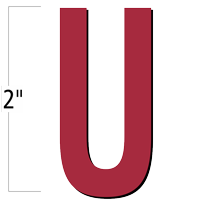 2 inch Die-Cut Magnetic Letter - U, Red