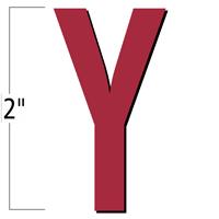 2 inch Die-Cut Magnetic Letter - Y, Red
