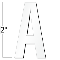 2 inch Die-Cut Magnetic Letter - A, White