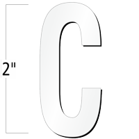 2 inch Die-Cut Magnetic Letter - C, White
