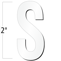 2 inch Die-Cut Magnetic Letter - S, White