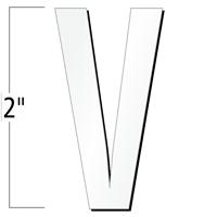 2 inch Die-Cut Magnetic Letter - V, White