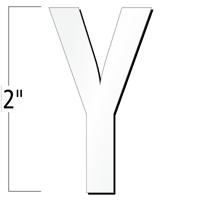 2 inch Die-Cut Magnetic Letter - Y, White