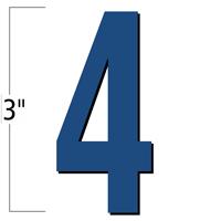 3 inch Die-Cut Magnetic Number - 4, Blue
