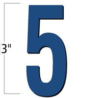 3 inch Die-Cut Magnetic Number - 5, Blue