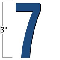3 inch Die-Cut Magnetic Number - 7, Blue