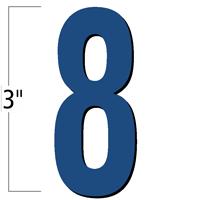 3 inch Die-Cut Magnetic Number - 8, Blue