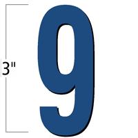 3 inch Die-Cut Magnetic Number - 9, Blue