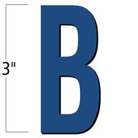 3 inch Die-Cut Magnetic Letter - B, Blue