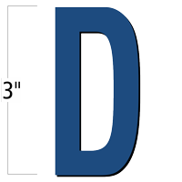 3 inch Die-Cut Magnetic Letter - D, Blue