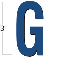 3 inch Die-Cut Magnetic Letter - G, Blue