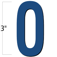 3 inch Die-Cut Magnetic Letter - O, Blue
