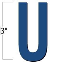 3 inch Die-Cut Magnetic Letter - U, Blue