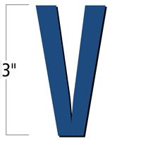 3 inch Die-Cut Magnetic Letter - V, Blue