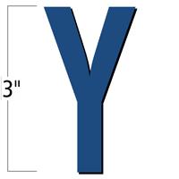 3 inch Die-Cut Magnetic Letter - Y, Blue