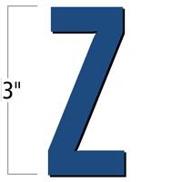 3 inch Die-Cut Magnetic Letter - Z, Blue