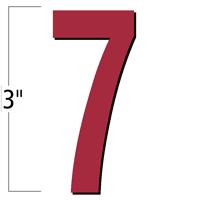 3 inch Die-Cut Magnetic Number - 7, Red