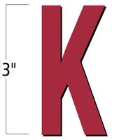 3 inch Die-Cut Magnetic Letter - K, Red