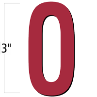 3 inch Die-Cut Magnetic Letter - O, Red