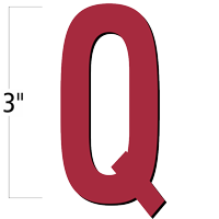 3 inch Die-Cut Magnetic Letter - Q, Red