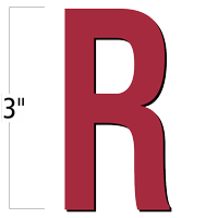 3 inch Die-Cut Magnetic Letter - R, Red
