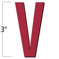 3 inch Die-Cut Magnetic Letter - V, Red
