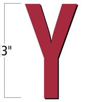 3 inch Die-Cut Magnetic Letter - Y, Red