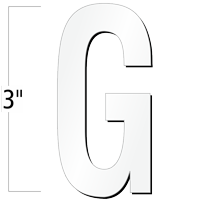 3 inch Die-Cut Magnetic Letter - G, White