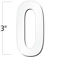 3 inch Die-Cut Magnetic Letter - O, White