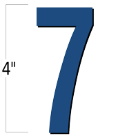 4 inch Die-Cut Magnetic Number - 7, Blue