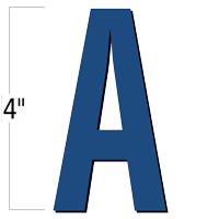 4 inch Die-Cut Magnetic Letter - A, Blue
