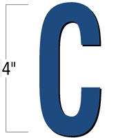 4 inch Die-Cut Magnetic Letter - C, Blue