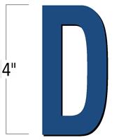 4 inch Die-Cut Magnetic Letter - D, Blue