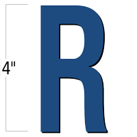 4 inch Die-Cut Magnetic Letter - R, Blue