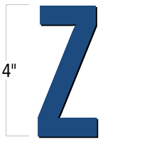 4 inch Die-Cut Magnetic Letter - Z, Blue