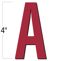 4 inch Die-Cut Magnetic Letter - A, Red