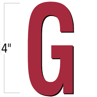 4 inch Die-Cut Magnetic Letter - G, Red