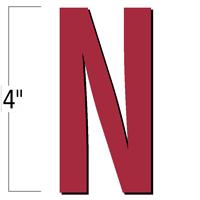 4 inch Die-Cut Magnetic Letter - N, Red