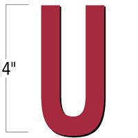 4 inch Die-Cut Magnetic Letter - U, Red