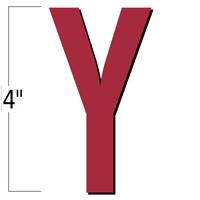 4 inch Die-Cut Magnetic Letter - Y, Red