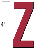 4 inch Die-Cut Magnetic Letter - Z, Red